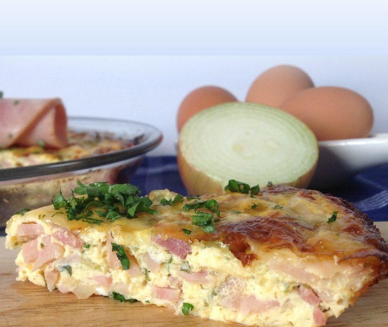 Crustless Ham and Bacon Quiche Recipe