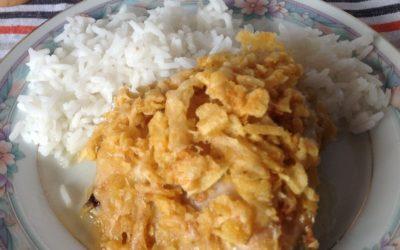 Cheesy Chip Chicken Thighs Recipe