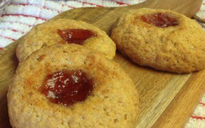 Coconut and Strawberry Jam Cookies Recipe